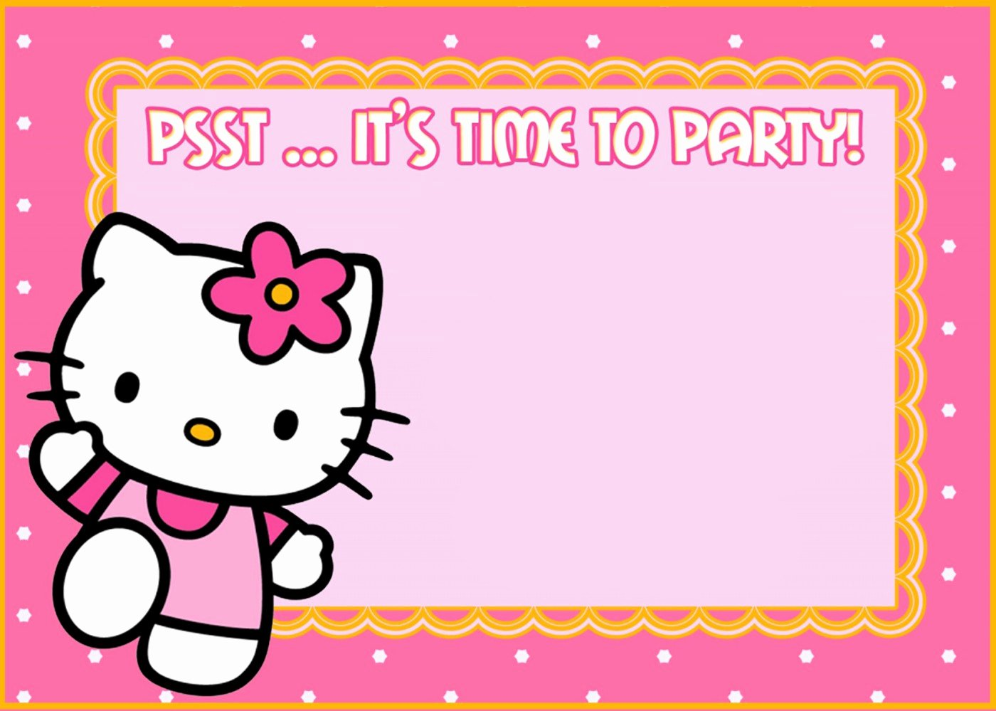Hello Kitty Party Invite Beautiful Hello Kitty Free Printable Invitation Templates