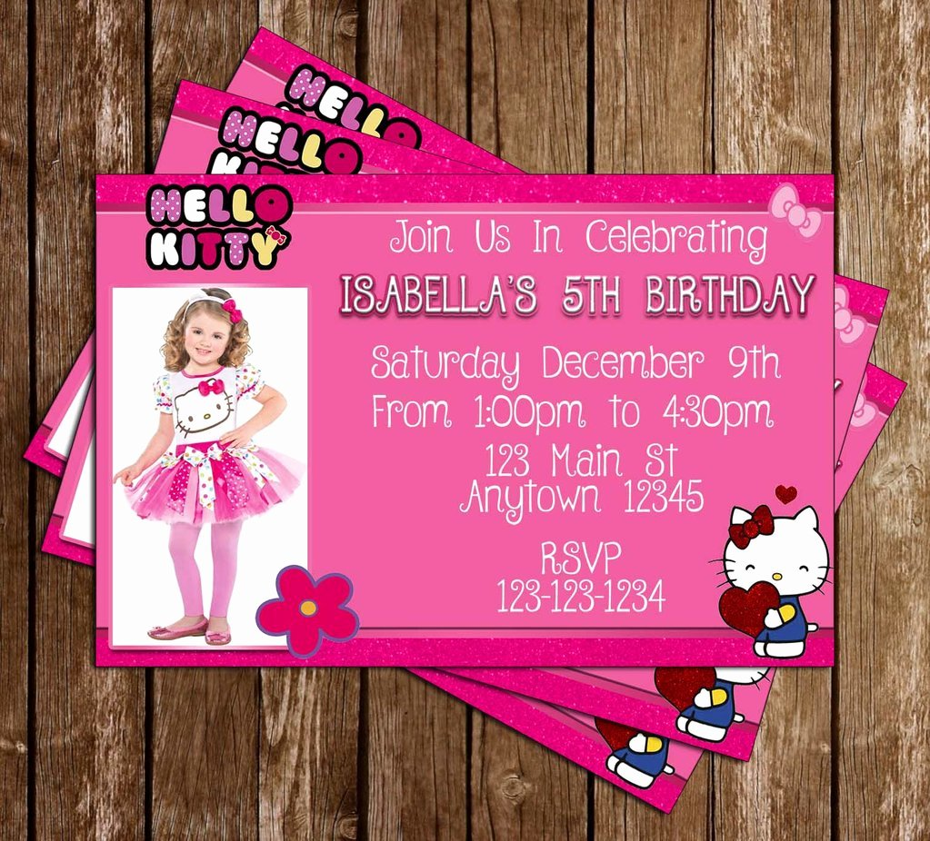 Hello Kitty Party Invite Best Of Novel Concept Designs Hello Kitty Pink Glitter