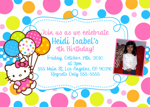 Hello Kitty Party Invite Inspirational Free Printable Hello Kitty Birthday Party Invitations