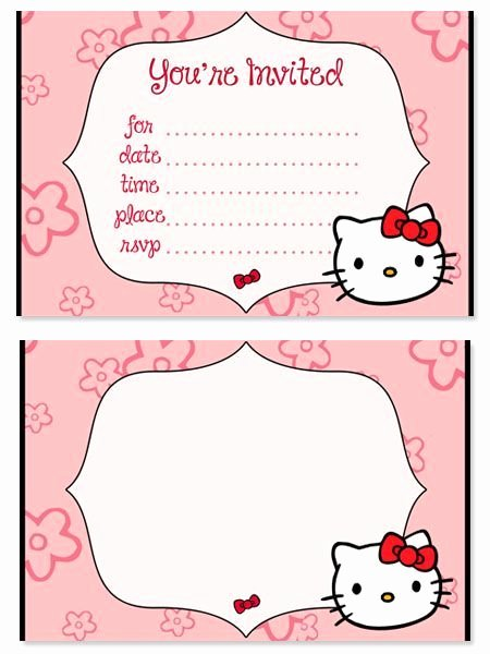 Hello Kitty Printable Invitations Beautiful 17 Best Images About Baby Shower Ideas On Pinterest