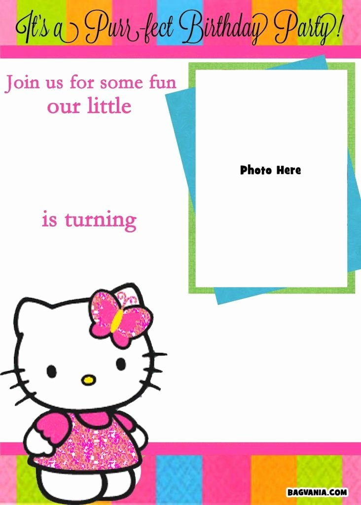 Hello Kitty Printable Invitations Inspirational Free Printable Hello Kitty Blank Invitation Template with