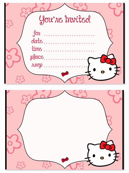 Hello Kitty Printable Invitations Inspirational Hello Kitty Birthday Party Invitations for Kids