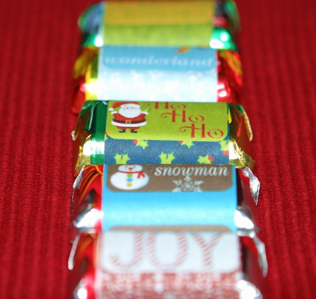 Hershey Miniatures Wrappers Template Free Awesome Christmas Candy Wrapper Template
