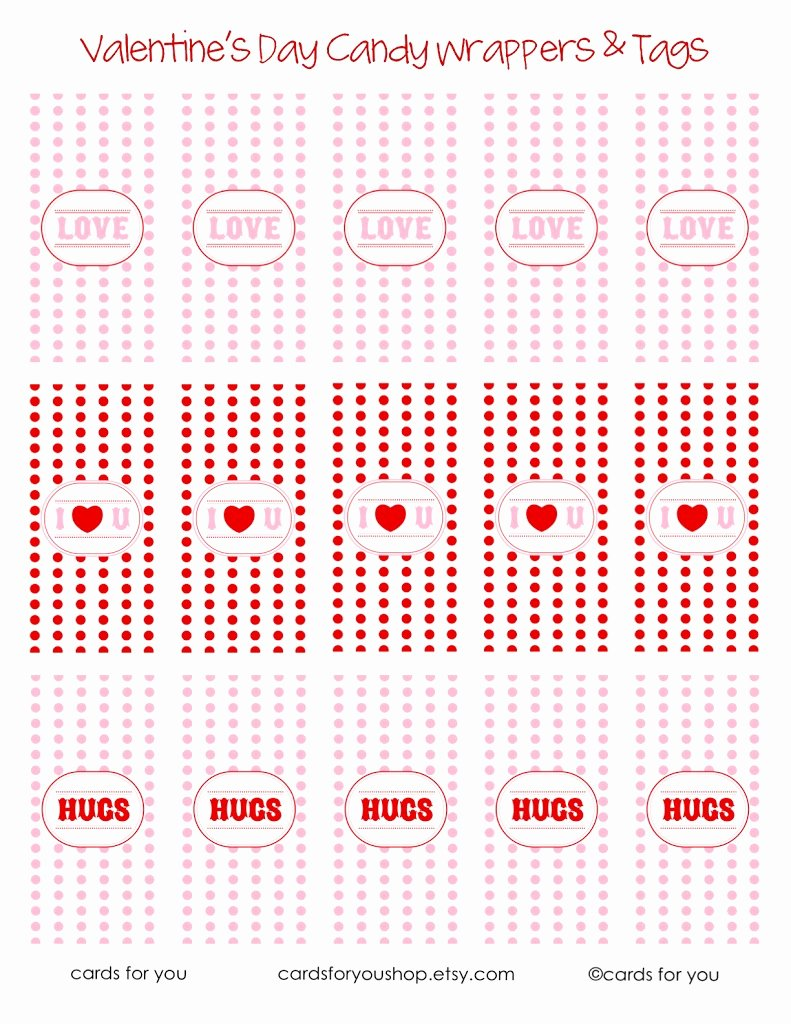 Hershey Miniatures Wrappers Template Free Awesome Valentine Candy Wrapper Printables U Create