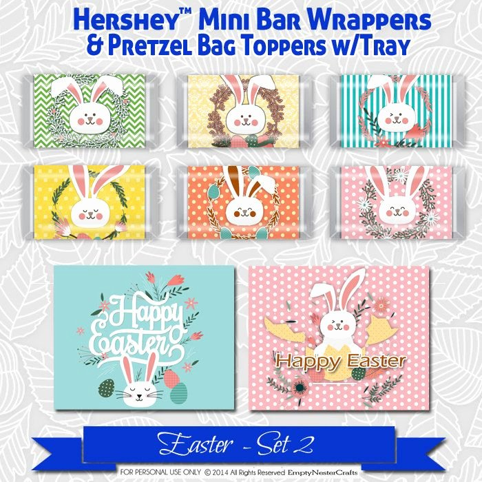 Hershey Miniatures Wrappers Template Free Elegant Easter Hershey Mini S Candy Bar Wrapper Printable Favor
