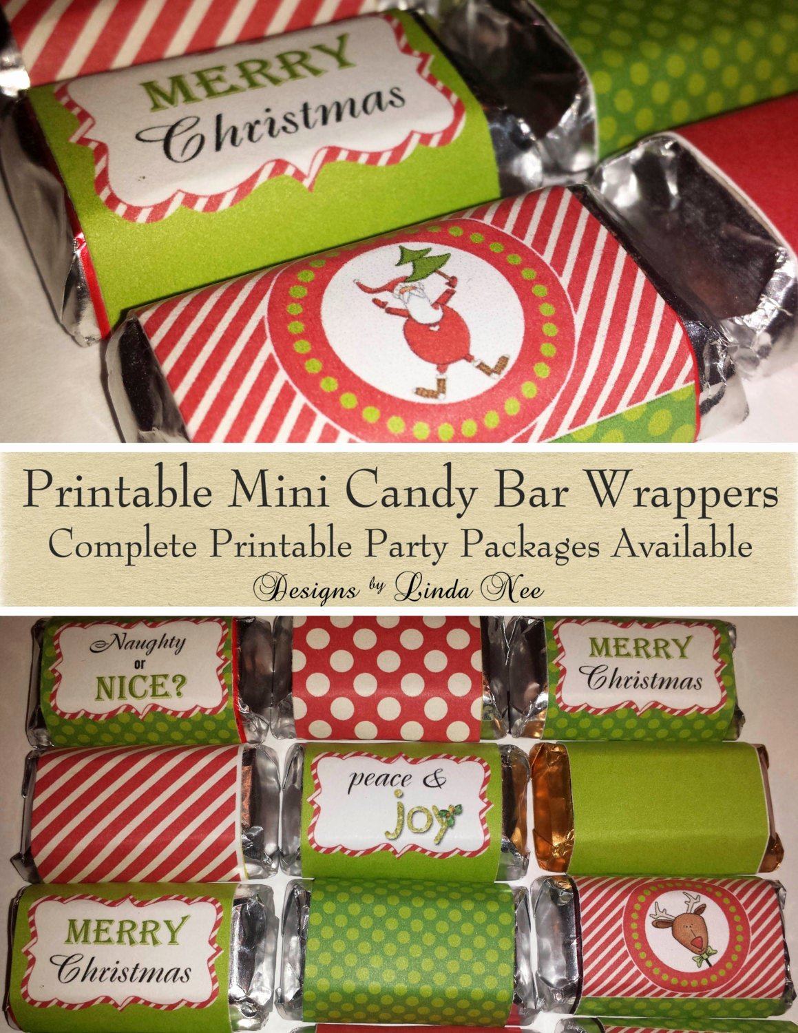 Hershey Miniatures Wrappers Template Free New Candy Bar Wrappers Santa Christmas Mini Hershey Bar Candy