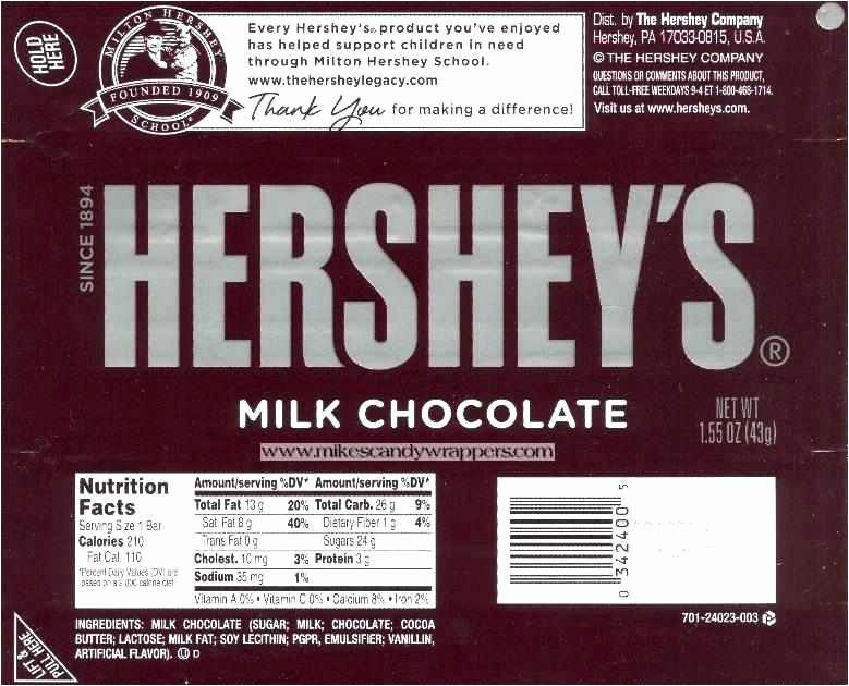 Hershey Miniatures Wrappers Template Free New Free Download 50 Hershey Bar Wrapper Template Simple