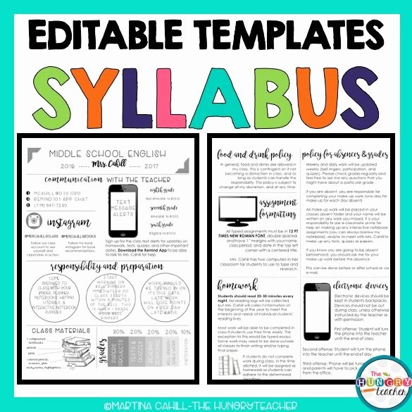 High School Course Syllabus Template Fresh Best 25 Syllabus Template Ideas On Pinterest