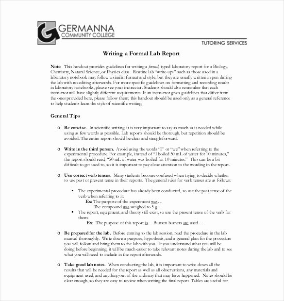 High School Lab Report Template Beautiful 16 Laboratory Report Templates Free Pdf Ms Word Apple