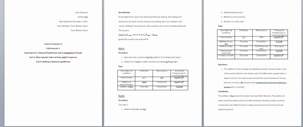 High School Lab Report Template Beautiful How to Write A General Chemistry Lab Report 11 Steps