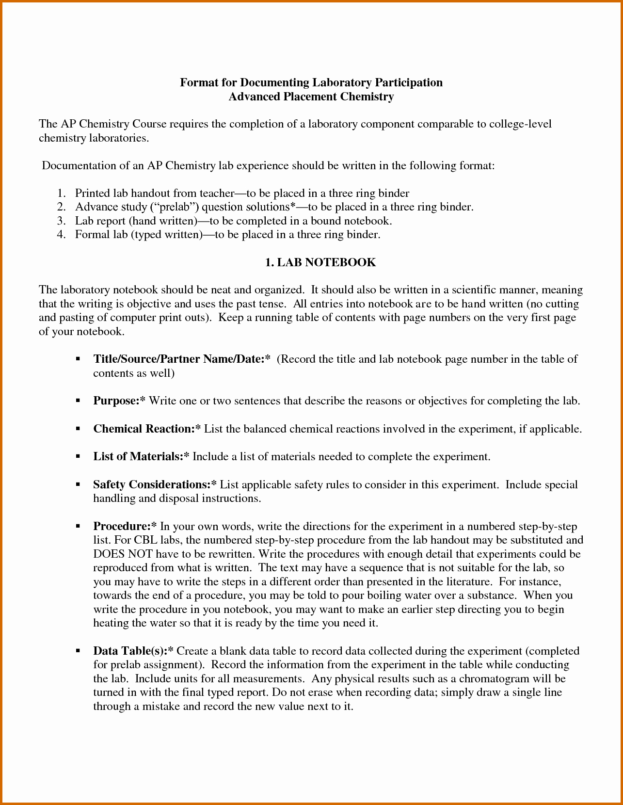 High School Lab Report Template Luxury Biology Lab Report Example High School Filename Chemistry