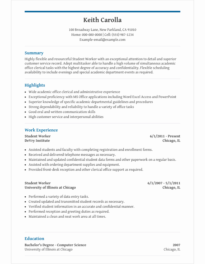 High School Principal Resume Lovely High School Student Resume Template for Microsoft Word