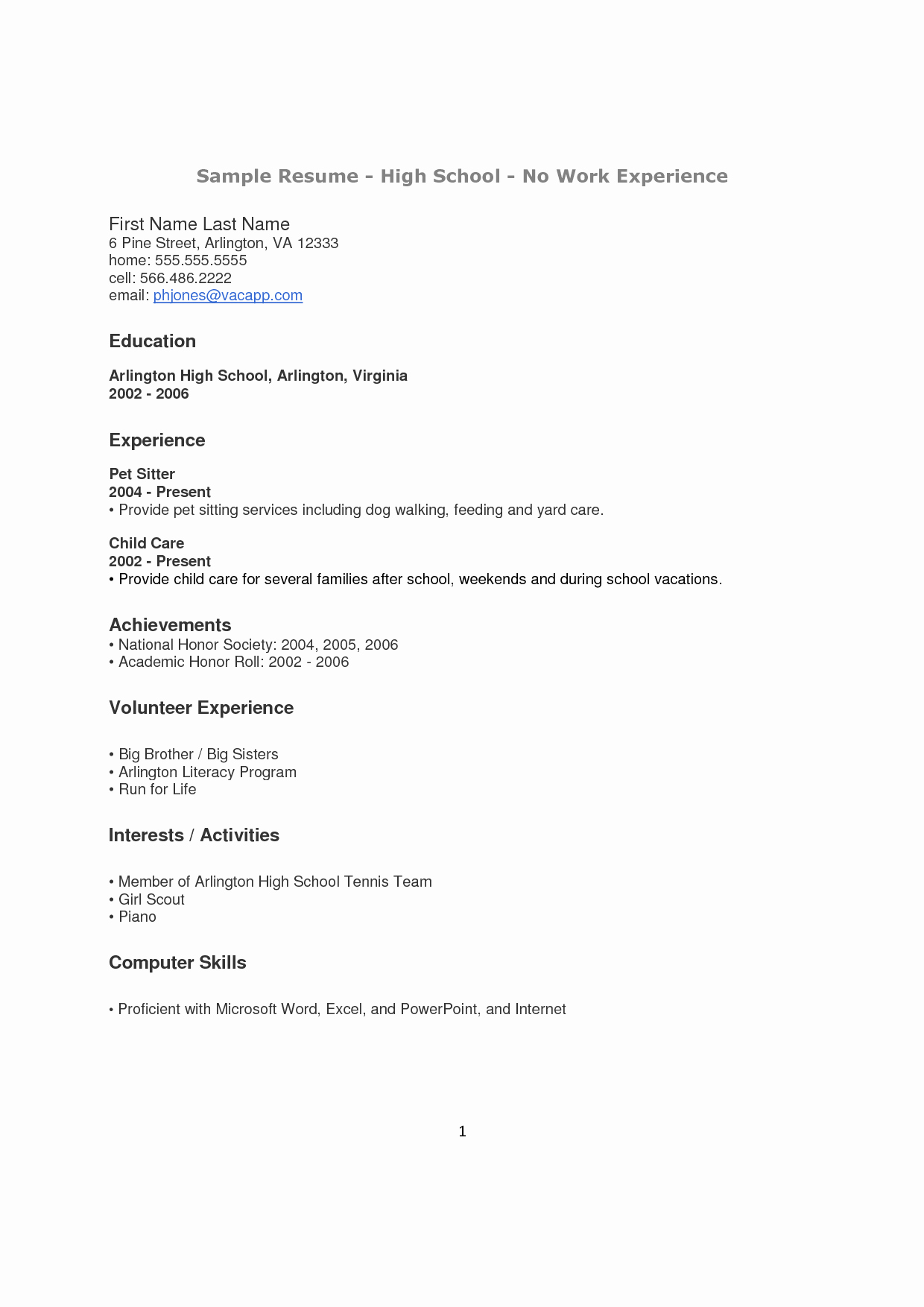 High School Principal Resume New How to Make A Resume for A Highschool Student with No