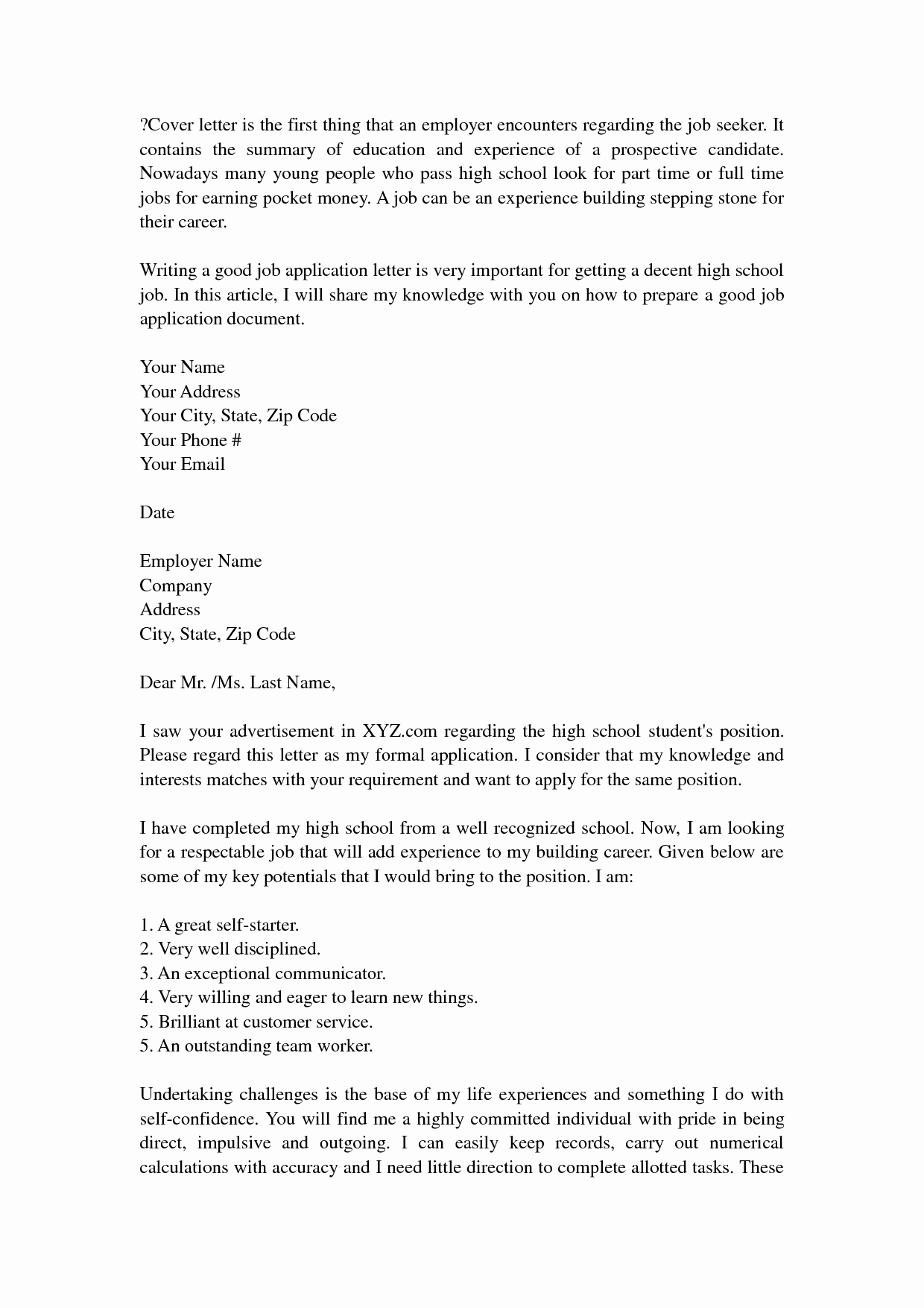 High School Teacher Cover Letter Inspirational Pin by Resumejob On Resume Job