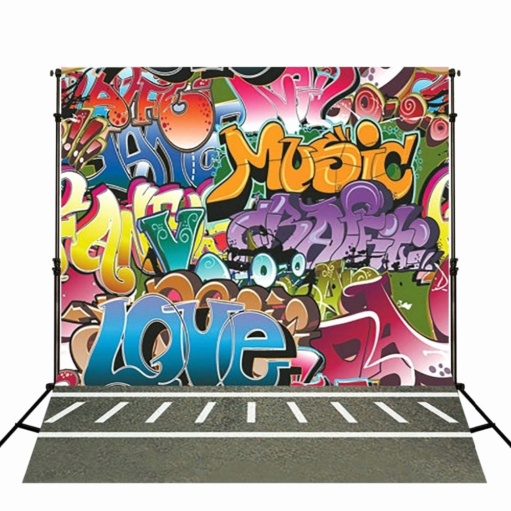 Hip Hop Graffiti Backdrop Awesome Hip Hop Graffiti Backdrops Vinyl Cloth High Quality