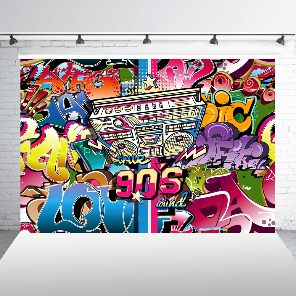 Hip Hop Graffiti Backdrop Awesome Huayi Graphic Background the Fresh Prince 90s Hip Hop