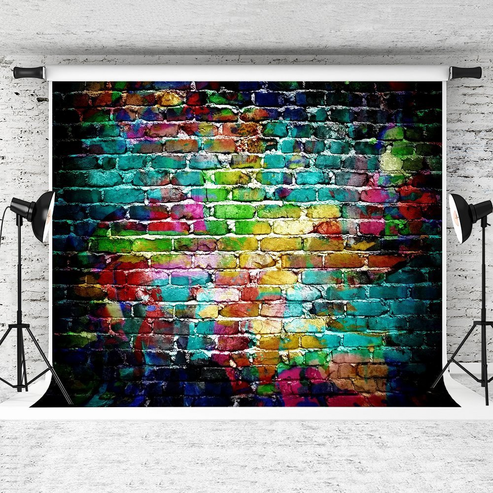 Hip Hop Graffiti Backdrop Awesome Mohome Polyster 7x5ft Colorful Graffiti Backdrop Brick