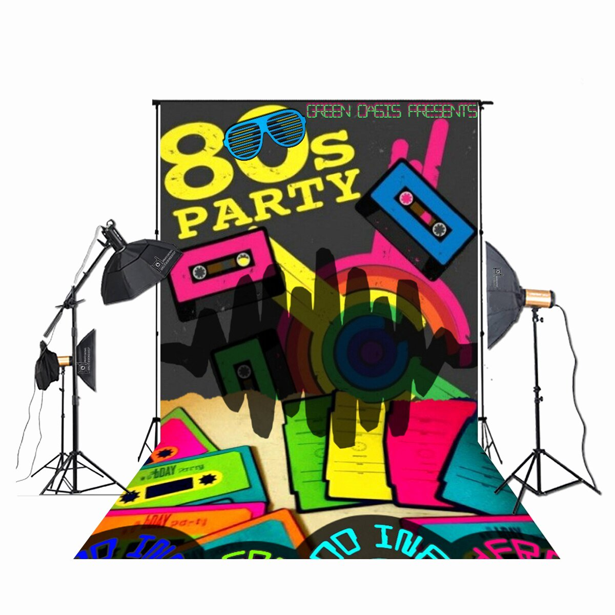 Hip Hop Graffiti Backdrop Beautiful Huayi 80s Party Backdrop 80 S Hip Hop Graffiti Graphy