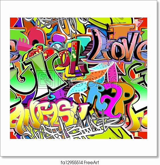 Hip Hop Graffiti Backdrop Best Of Free Art Print Of Graffiti Wall Urban Art Vector