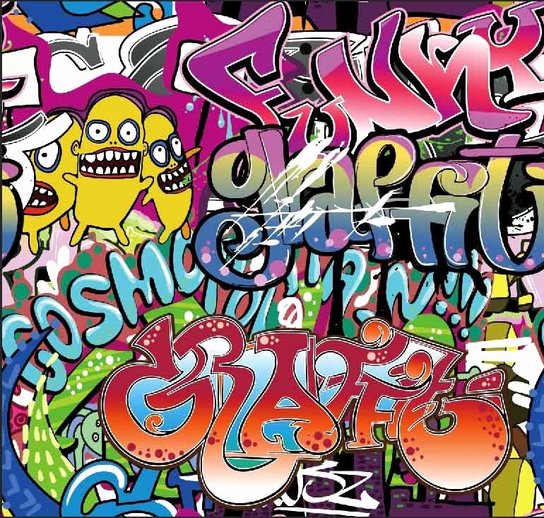 Hip Hop Graffiti Backdrop Luxury 10x10ft Street Hip Hop Funny Cartoon Graffiti Wall Custom