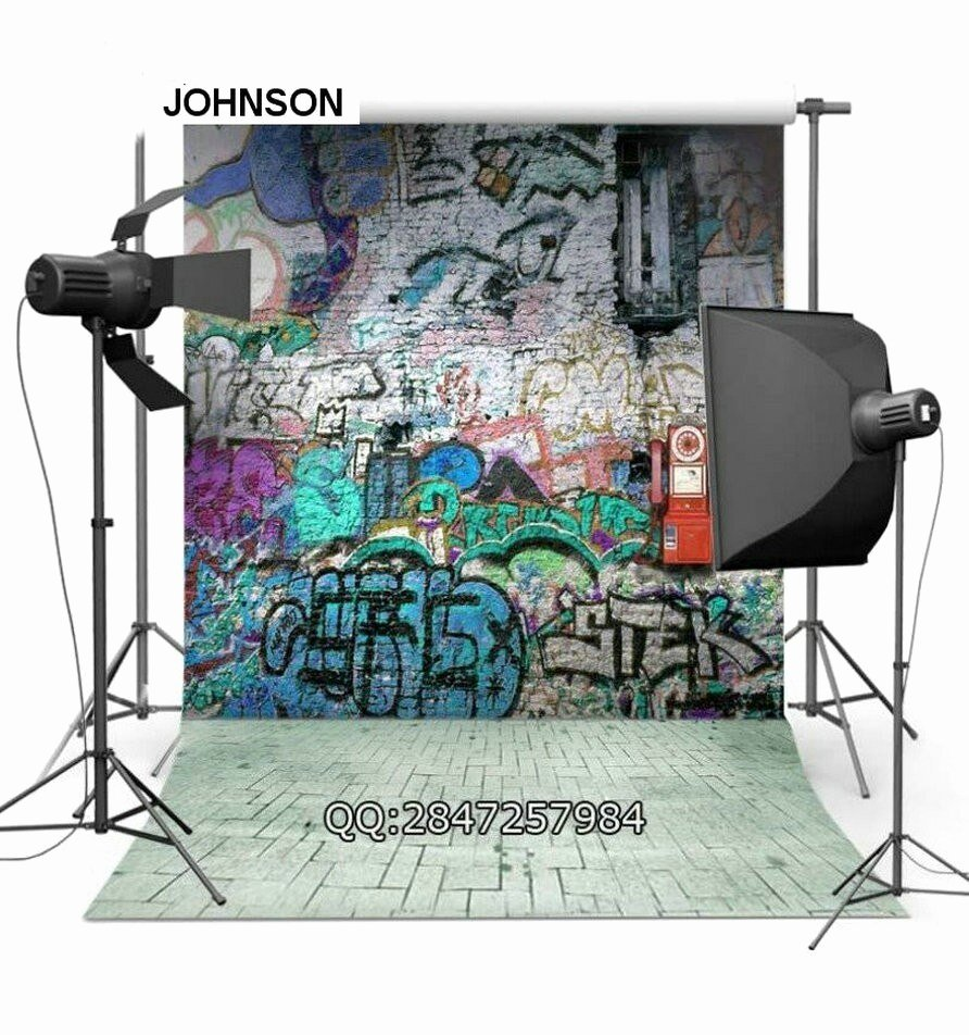 Hip Hop Graffiti Backdrop Luxury Hip Hop Graffiti Party Photo Backdrop Vinyl Cloth High