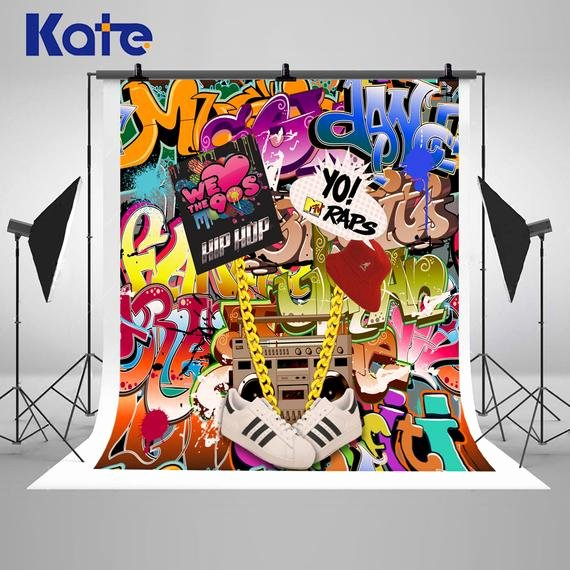 Hip Hop Graffiti Backdrop New 90 S Hip Hop Graffiti Wall themed Graphy Backdrops