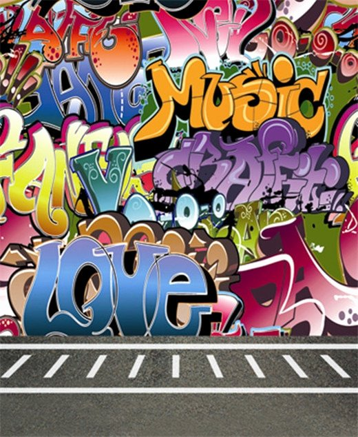 Hip Hop Graffiti Backdrop Unique 8x12ft Graffiti Wall Graffito Sidewalk Hip Hop