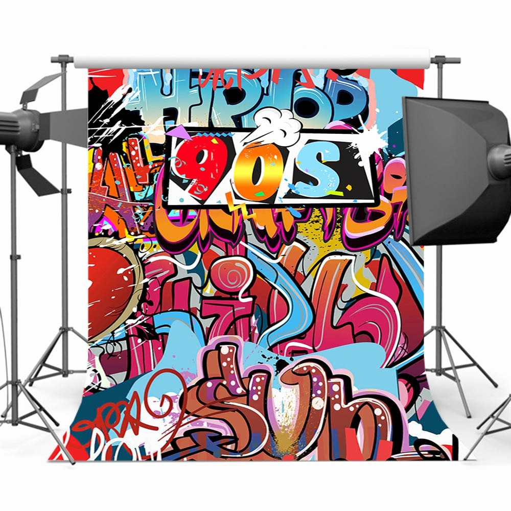 Hip Hop Graffiti Backdrop Unique Aliexpress Buy Mehofoto Hiphop 90s Background for