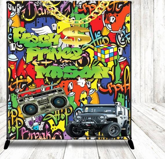 Hip Hop Graffiti Backdrop Unique Urban Graffiti Backdrop Banner 80s 90s Hip Hop Old School