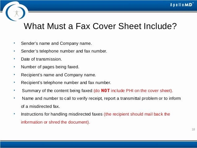 Hipaa Fax Cover Sheet Requirement Awesome Hipaa Privacy and Security Basic Training for Apollomd