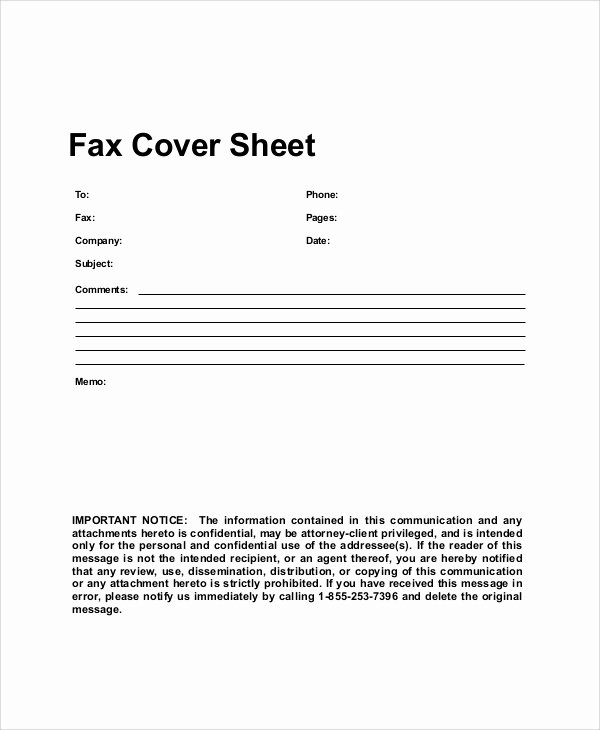 Hipaa Fax Cover Sheet Requirement Inspirational Sample Generic Fax Cover Sheets 8 Documents In Pdf Word