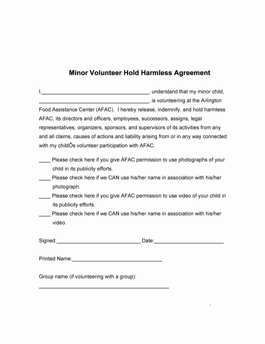Hold Harmless Agreement Sample Wording Best Of 41 Free Hold Harmless Agreement Templates Free Free