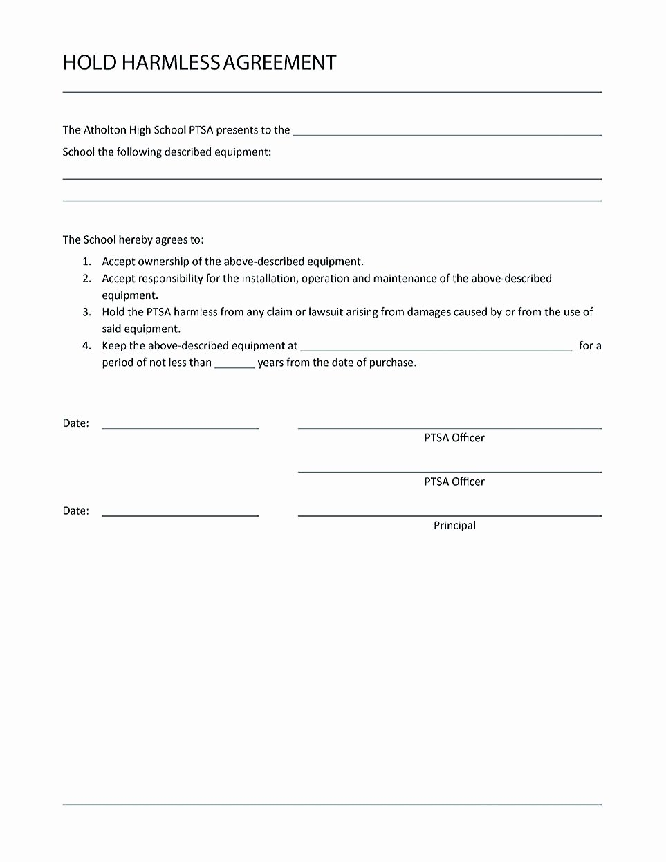 Hold Harmless Agreement Sample Wording Best Of Making Hold Harmless Agreement Template for Different Purposes