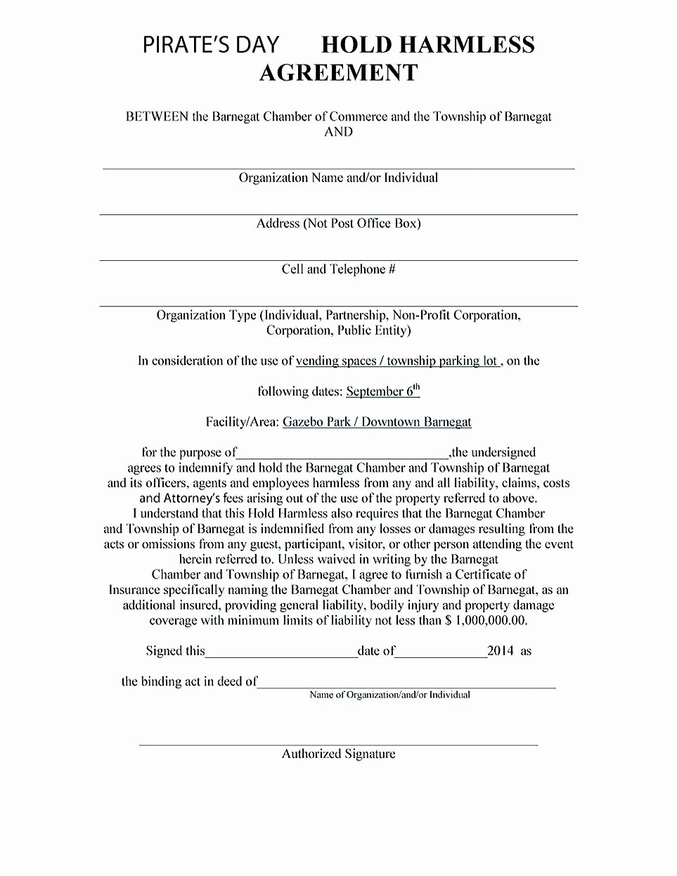 Hold Harmless Agreement Sample Wording New Making Hold Harmless Agreement Template for Different Purposes