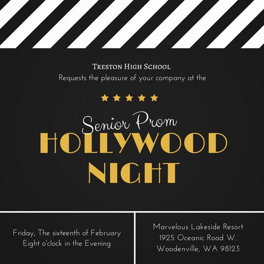 Hollywood Invitation Template Free Best Of Customize 41 Movie Night Invitation Templates Online Canva