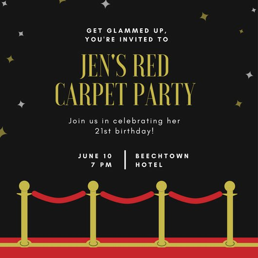 Hollywood Invitation Template Free Elegant Movie Night Invitation Templates Canva