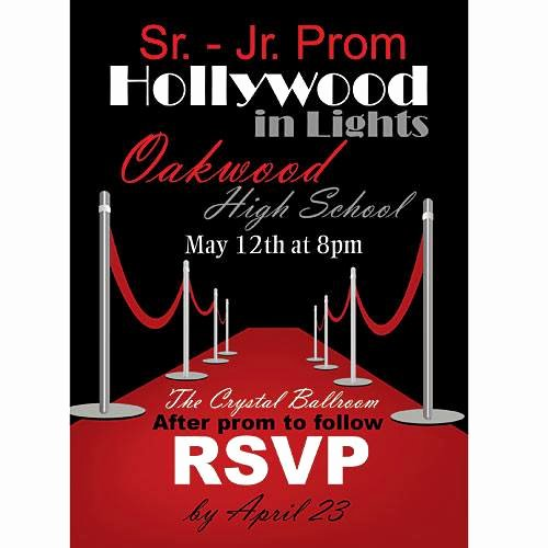 Hollywood Invitation Template Free Lovely Hollywood Red Carpet Invitations Shindigz