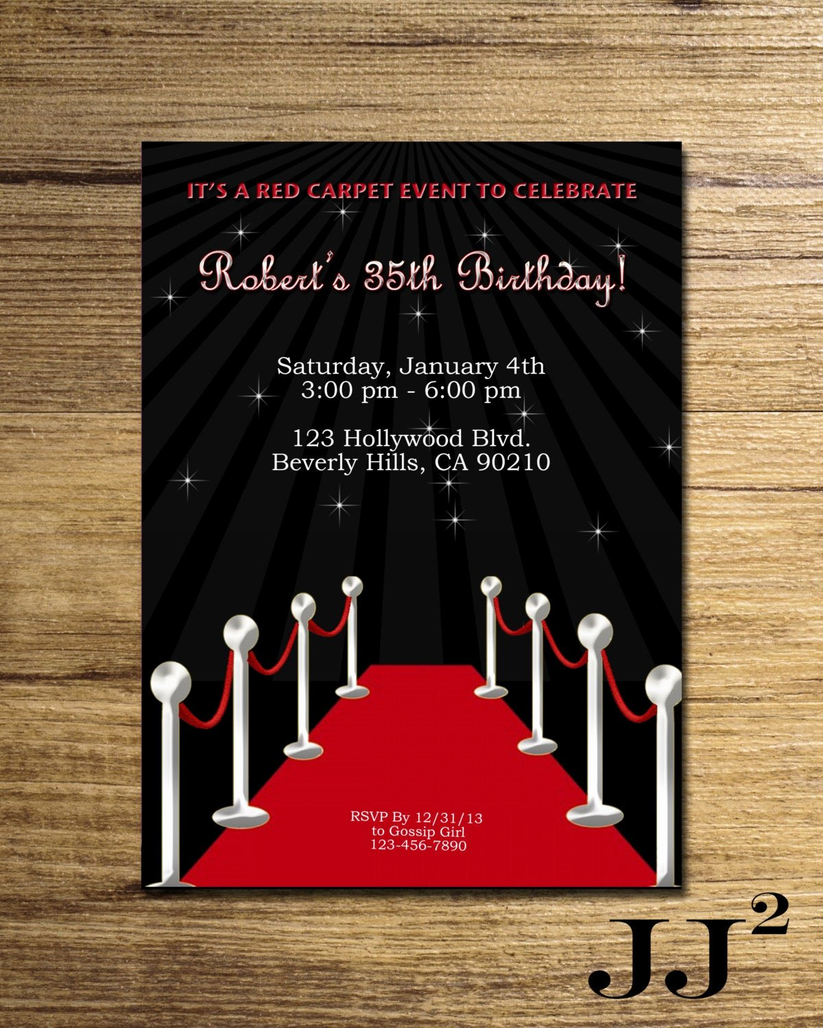 Hollywood Invitation Template Free Lovely Red Carpet Birthday Party Invitation Glam Hollywood