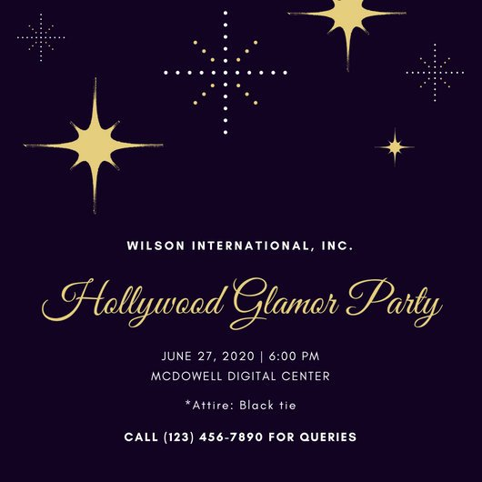 Hollywood Invitation Template Free Luxury Customize 48 Hollywood Invitation Templates Online Canva