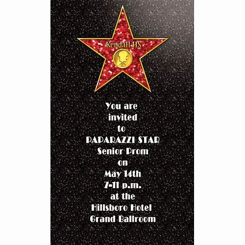 Hollywood Invitation Template Free Luxury Hollywood Walk Of Fame Star Invitations Shindigz