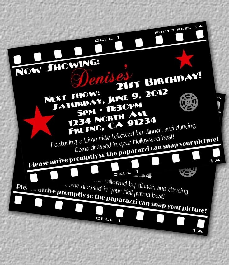 Hollywood Invitation Template Free Unique 1000 Images About Printables On Pinterest