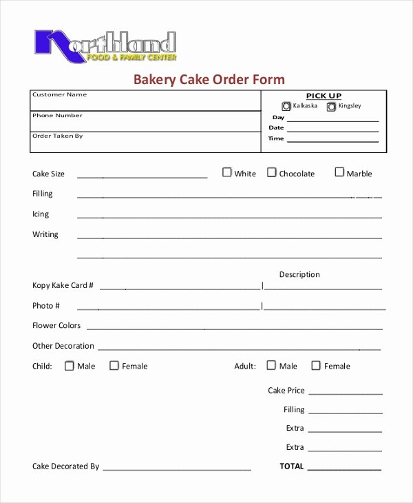 Home Bakery Cake order form Lovely Sample Cupcake order form 10 Free Documents In Pdf