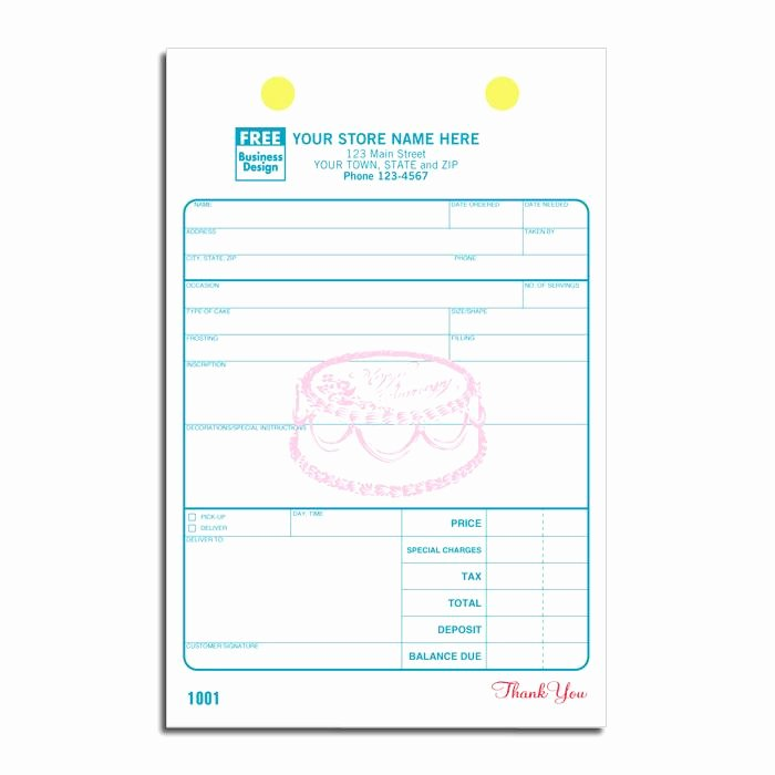 Home Bakery Cake order form New Bakery order form Receipt for Bakeries