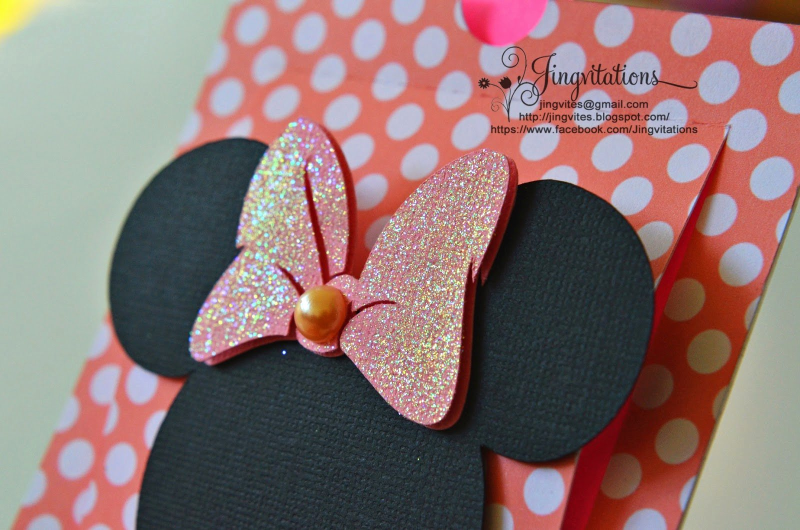Homemade Minnie Mouse Invitations Beautiful Jingvitations Cricut Handmade Minnie Mouse Pop Up Invitations