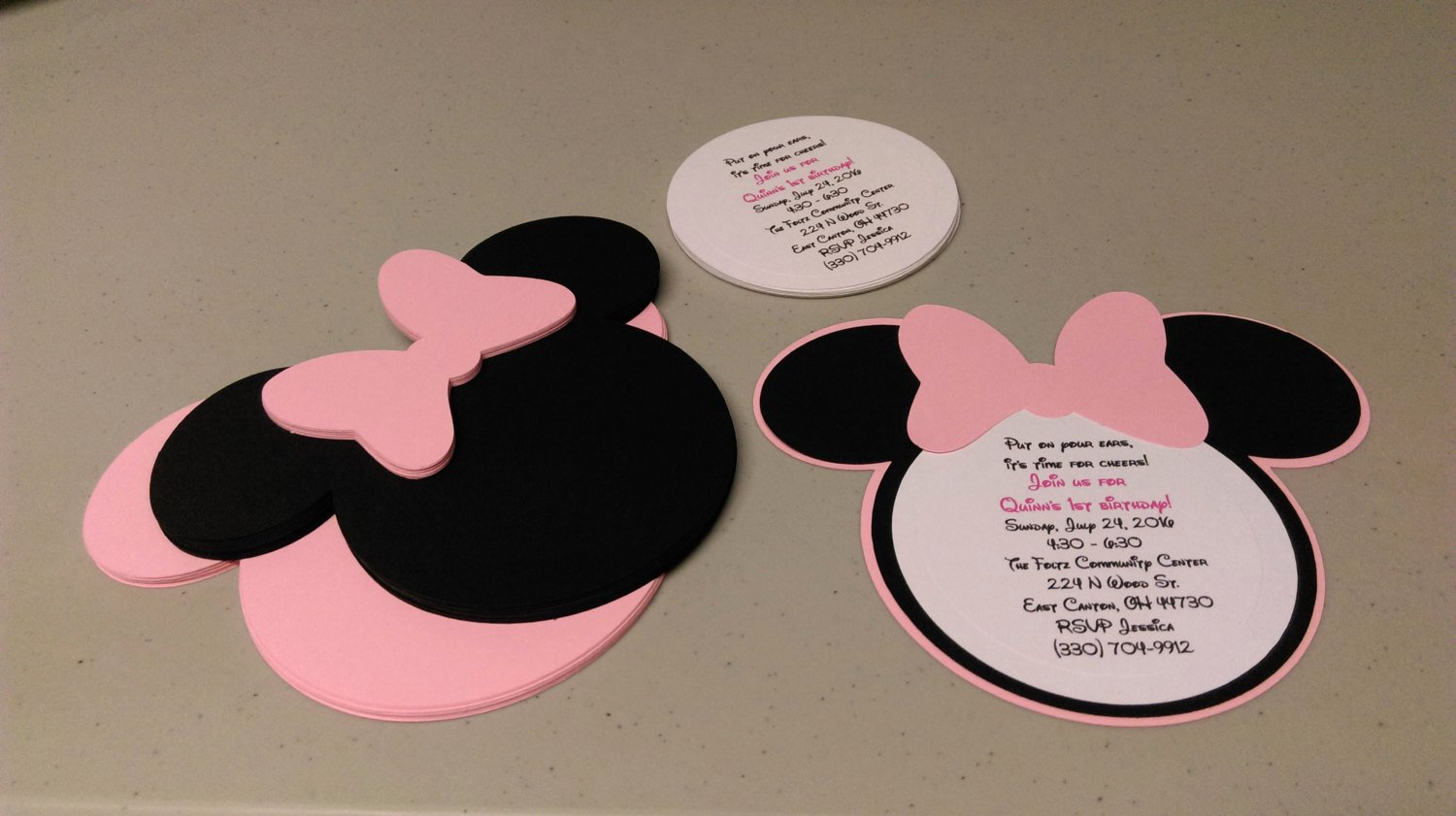 Homemade Minnie Mouse Invitations Best Of Diy Minnie Mouse Invitations In Light Pink Birthday