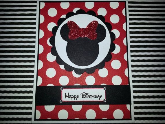 Homemade Minnie Mouse Invitations Inspirational Handmade Minnie Mouse Birthday Card by Itspolkaspotted On