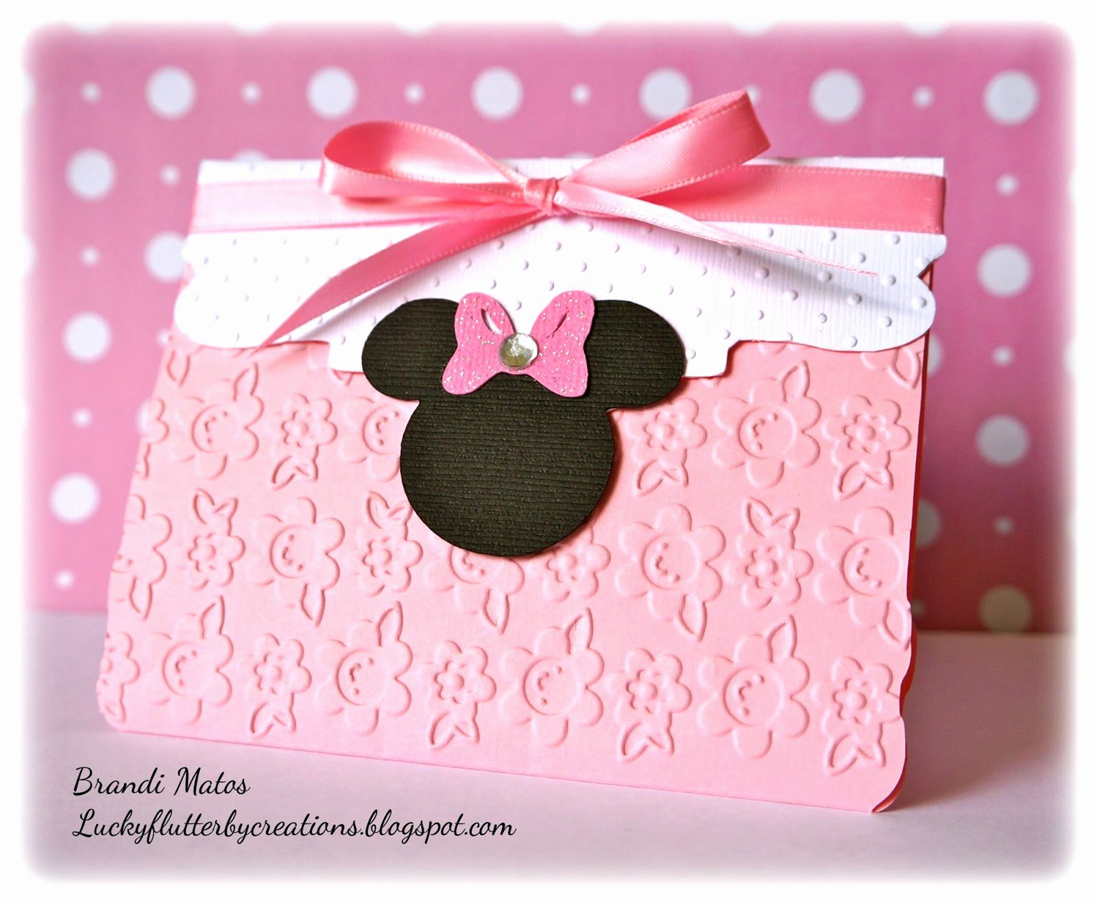 Homemade Minnie Mouse Invitations Inspirational Lucky Flutterby Creations Handmade Minnie Mouse Invitations