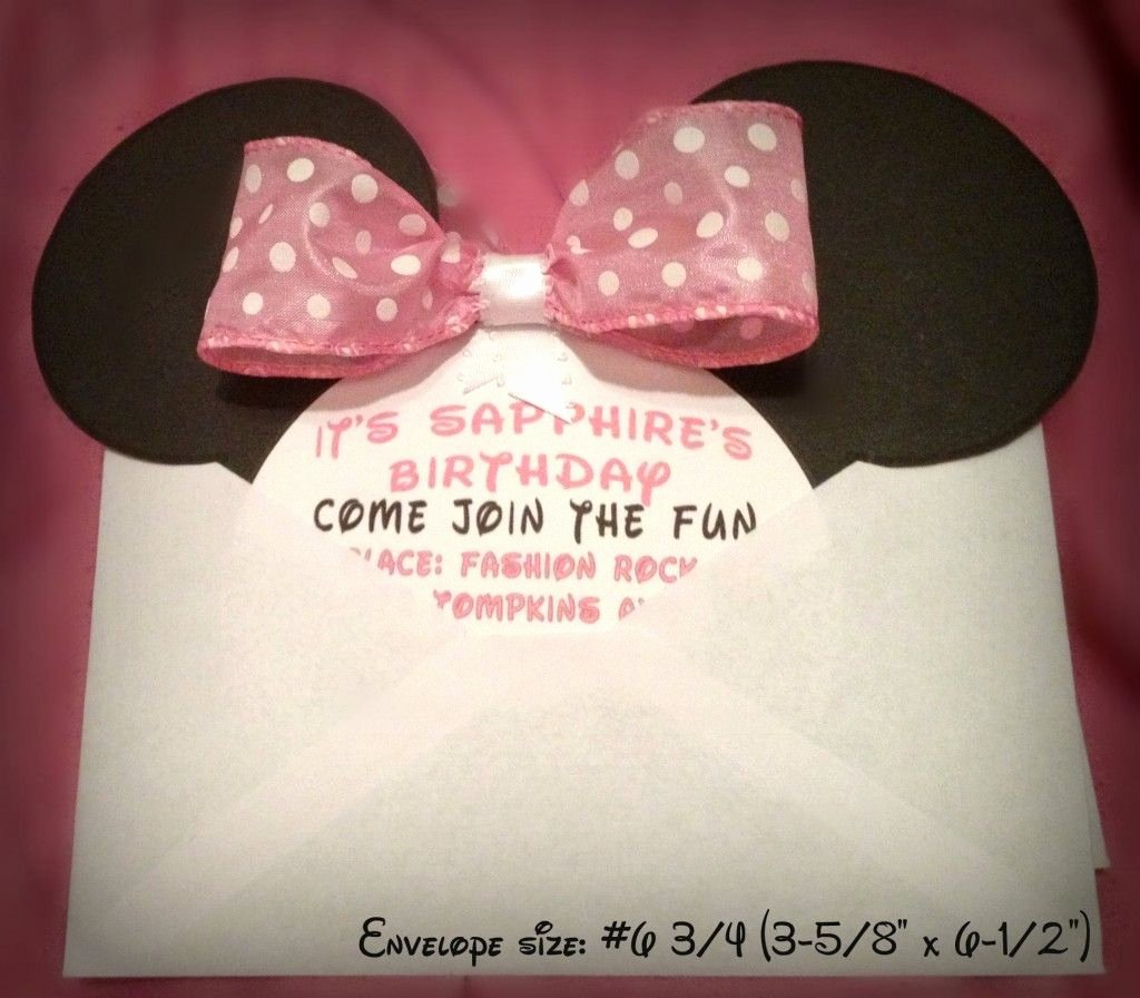 Homemade Minnie Mouse Invitations Luxury Diy Minnie Mouse Invitation with Real Bow Free Minnie