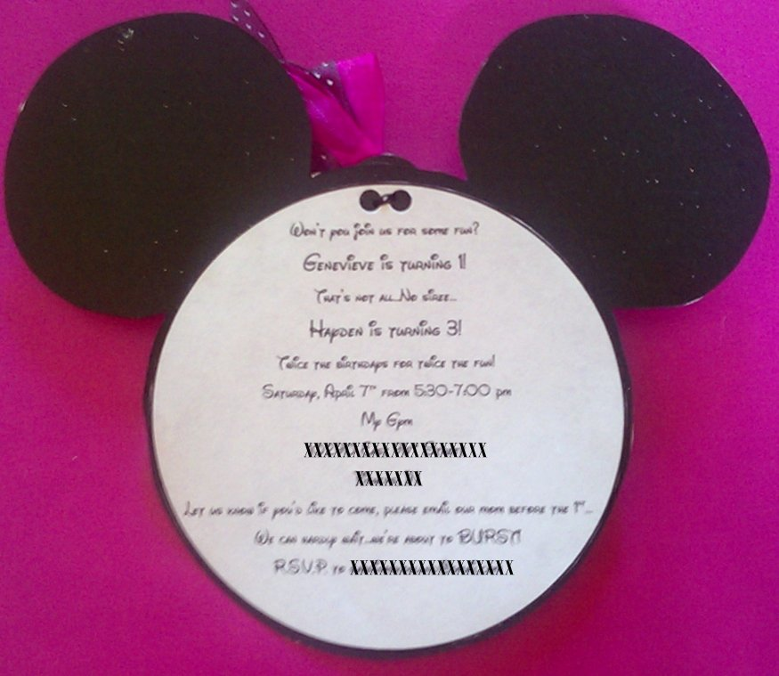 Homemade Minnie Mouse Invitations Unique Diy Minnie Mouse Invitations