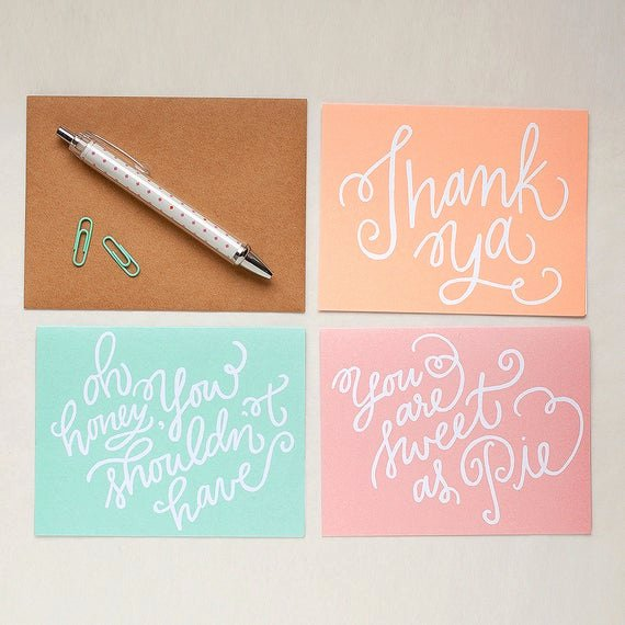 Hospitality Thank You Notes Beautiful Items Similar to Note Card Set southern Hospitality